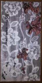 手繪真跡國畫:天津美協會員曹劍英大寫意花鳥畫《窗》(四尺 未鈐印)