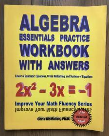 Algebra essential practice workbook with answers
