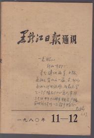 黑龍江日報通訊 1980年11-12(著名作家王忠瑜簽名贈本)