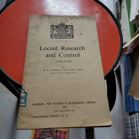 LOCUST RESEARCH AND CONTROI1929—1950