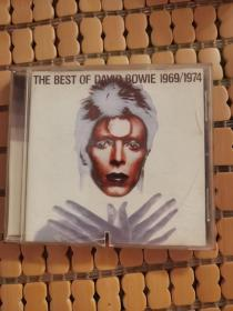 DAVID BOWIE《THE BEST OF DAVID BOWIE 1969/1974》cd,有小口的损坏,不影响听。