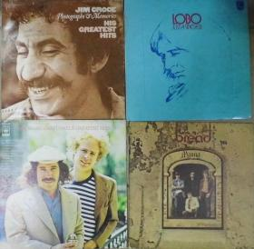 留声机專用 SIMON AND GARFUNKEL JIM CROCE  BREAD LOBO  黑胶唱片4隻 港版