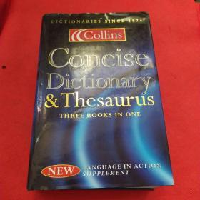 Collins  Concise  Dictionary  & Thesaurus 柯林斯简明词典&叙词表