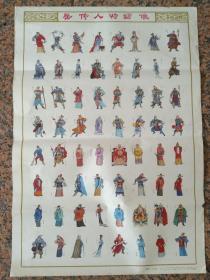 B244、岳傳人物繡像,季源業等作、天津人民出版社1988年8月,規格2開,9品。