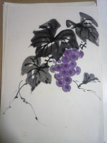 《葡萄》日本回流小畫