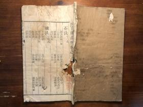芥子園畫傳 卷三 石譜 一冊全