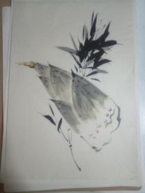 《竹筍》日本回流小畫