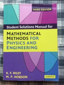 现货 Student Solution Manual for Mathematical Methods for Physics and Engineering 3e  英文原版 物理学和工程学中的数学方法 习题解答 K. F. Riley