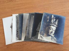 民國日本《佛像》照片八張合售,大幅16開