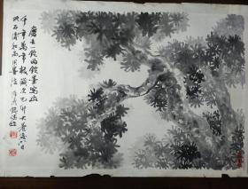 無錫鄉賢陸鼎銘先生墨松圖精品
