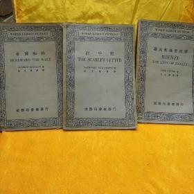 英汉对照名家小说选【红字记】【希尔和特】【 罗马英雄里因济】(3本合售)