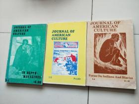JOURNAL   OF  AMERICAN  CULTURE  Winter 78  FA78  SPR 80【3本合售】