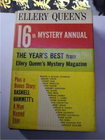 英文书籍--ELLERY QUEEN'S 16TH MYSTERY ANNUAL 32开精装
