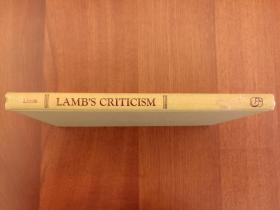 Lamb's Criticism: A Selection from the Literary Criticism of Charles Lamb (布面精装)(馆藏书,国内现货)