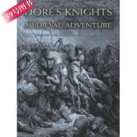 多雷 中世纪骑士黑白版画Dore's Knights and Medieval Adventure