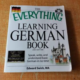 The Everything Learning German Book:Speak, write, and understand basic German in no time 有光盘 有几页划线不影响阅读