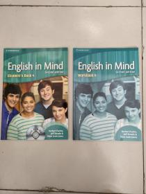 English in Mind Student's BOOK 4(含盘)+English in Mind Workbook 4(两本合售)库存  没勾画