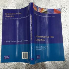 introduction to text linguistics  9780582554856
