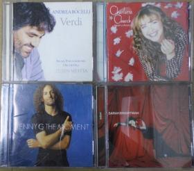 KENNY G ANDREA BOCELLI SARAH BRIGHTMAN CHARLOTTE CHURCH  首版 旧版 港版 原版 绝版 CD