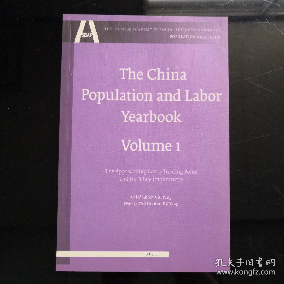 The China Population and Labor Yearbook ,volume 1