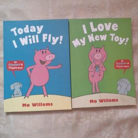 Elephant & Piggie: Today I Will Fly (by Mo Willems) 小象小猪系列:我要飞【2本合售】