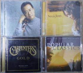 CARPENTERS YO YO MA NORAH JONES POPULAR CLASSICS   首版 旧版 港版 原版 绝版 CD