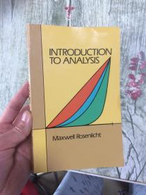 预订2周到货  Introduction to Analysis (Dover Books on Mathematics)  英文原版 分析导论 Maxwell Rosenlicht