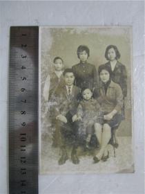 約五六十年代老照片 全家福 6人