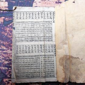 星命萬年書,道光9年到民國24年年歷表
