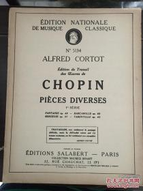 CHOPIN PIECES DIVERSES乐谱