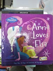 特价~Frozen Anna Loves Elsa (Frozen (Disney Press))全外文版9781484724705