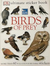 平装 RSPB Birds of Prey Ultimate Sticker Book RSPB猛禽终极贴纸书