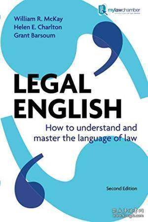 Legal English How To Understand And Master The Language Of Law