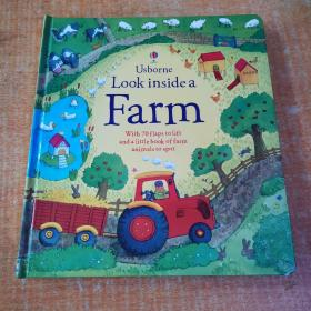 Usborne Look inside a Farm【精装】 正版 现货