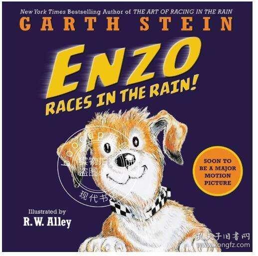 现货 恩佐在雨中奔跑 儿童绘本 英文原版 enzo races in the rain 我在雨中等你作者加思 斯坦 garth stein 治愈系 温情羁绊