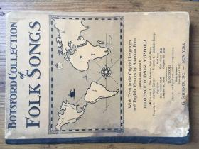 Botsford Collection of Folk Songs: Volume 1, the Americas, Asia and Africa 《各族民歌集》(第一卷)——博茨福德编 (品低 见图)【英文原版 精装 1930年】