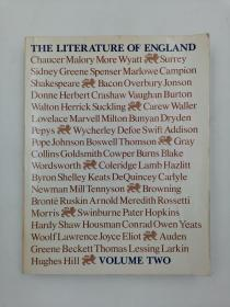 the literature of england third edition volume two