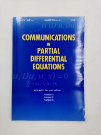 communications in partial differential equations volume 41 numbers 4-6 2016