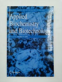 appiled biochemistry and biotechnology  应用生物化学与生物技术