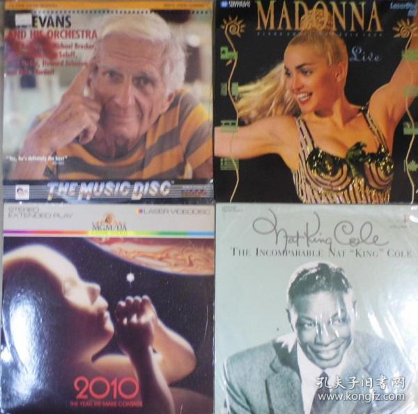 古董LD 大光碟 MADONNA NAT KING COLE GIL EVANS 2010