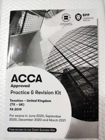 正版 二手 ACCA Taxation-UK(TX-UK)FA2019 Practice ε Revision Kit  For exams in June 2020,September 2020,December 2020 and March 2021   9781509728176