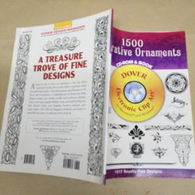 1500 Decorative Ornaments CD-ROM and Book 1500装饰饰品光盘和书