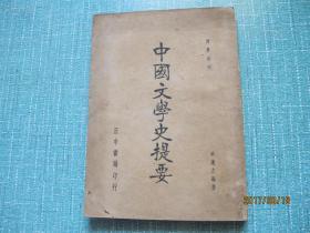 民國《中國文學史提要》  全一冊