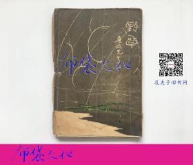 【布袋文化】新文學珍本 野草 魯迅1927年初版毛邊本僅印1000冊