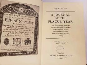 A Journal of the Plague Year  (Oxford English Novels)