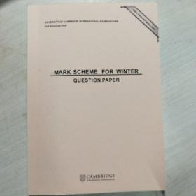 MARK SCHEME FOR WINTER QUESTION PAPER