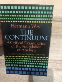 hermann weyl.THECONTINUUM.A CriticalExamination of the Foundation ofAnaIysis