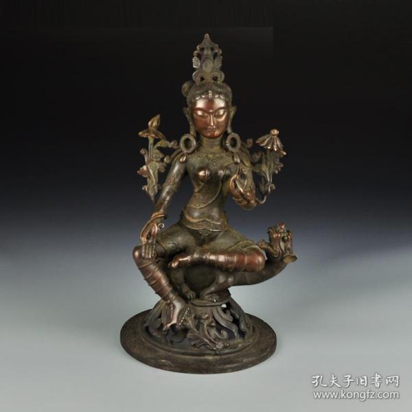 黄铜藏传观音像