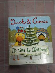 Duck & Goose: It's Time for Christmas【实物拍摄图,精装】
