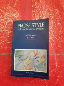 PROSE STYLE: A Handbook for Writers